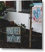 Rinse Feet And Drop Flops Metal Print