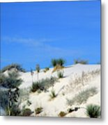 Rippled Sand Dunes In White Sands National Monument, New Mexico - Newm500 00106 Metal Print