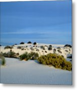 Rippled Sand Dunes In White Sands National Monument, New Mexico - Newm500 00114 Metal Print