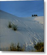 Rippled Sand Dunes In White Sands National Monument, New Mexico - Newm500 00118 Metal Print
