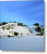 Rippled Sand Dunes In White Sands National Monument, New Mexico - Newm500 00119 Metal Print
