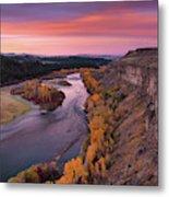 River Sunrise Metal Print