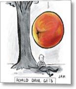 Roald Dahl Gets A Book Idea Metal Print