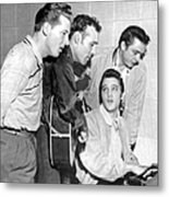 Rock And Roll Musicians Jerry Lee Metal Print
