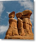 Rock Formation In Arches National Park Metal Print