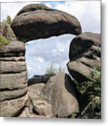 Rock Gate In The Nature Reserve Broumov Walls Metal Print