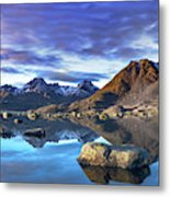 Rock Reflection Landscape Metal Print