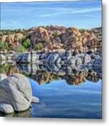 Rocks And Reflections Metal Print