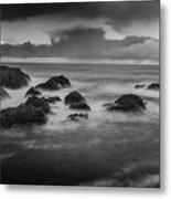 Rocks In The Storm Metal Print