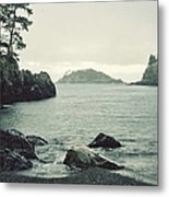 Rocky Bay On The Ocean Metal Print