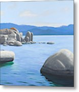 Rocky Cove On Lake Tahoe Metal Print