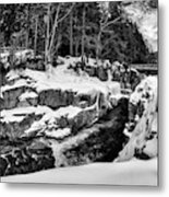 Rocky Gorge Foot Bridge N H Metal Print