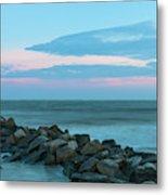 Rocky Shores Sunrise Metal Print