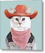 Rodeo Cat Metal Print