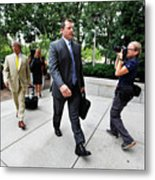 Roger Clemens Attends Hearing On Metal Print