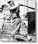 Rogers Hornsby In Batting Cage Metal Print