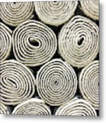 Rolled Rugs Background Metal Print