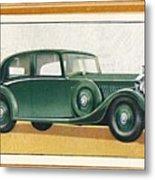 Rolls-royce 20-25 Saloon, C1936 Metal Print