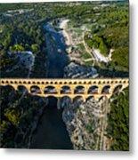Roman Aqueduct, Pont Du Gard Metal Print
