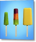 Row Of Different Types Of Ice Cream Metal Print