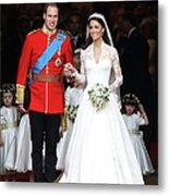 Royal Wedding - Carriage Procession To Metal Print