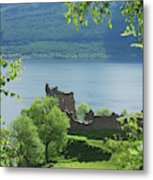 ruins of castle Urquhart on loch Ness Metal Print