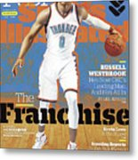 Russell Westbrook, The Franchise 2016-17 Nba Basketball Sports Illustrated Cover Metal Print