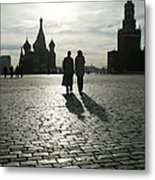 Russia, Moscow, Red Square, Silhouette Metal Print