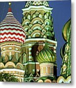 Russia, Moscow, Red Square, St Basils Metal Print