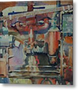 Rusty Engine  Metal Print