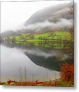 Rydal Water On A Misty Day In December Metal Print