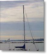 Sailboat In The Bay Area Metal Print