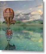 Sailing Away Daydream Steampunk Metal Print