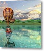 Sailing Away Daydream Steampunk Custom Metal Print