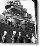 Sailors, Anticipating Shore Leave, Line Metal Print
