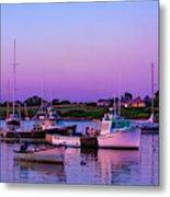 Sakonnet Point Boats Metal Print
