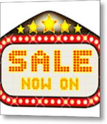 Sale Theatre Marquee Metal Print