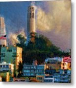 Salesforce Tower Coit Tower Transamerica Pyramid Metal Print