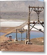 Salt Pans And 200 Yr Old Cable Car Winches Metal Print