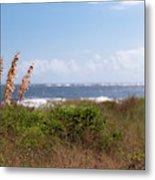 Salty Island Breeze Over Breach Inlet Metal Print