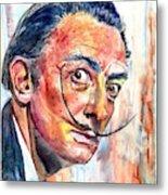 Salvador Dali Portrait Metal Print