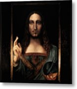 Salvator Mundi After Leonardo Da Vinci Metal Print