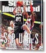 San Antonio Spurs Manu Ginobili, 2005 Nba Finals Sports Illustrated Cover Metal Print