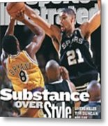 San Antonio Spurs Tim Duncan, 1999 Nba Western Conference Sports Illustrated Cover Metal Print