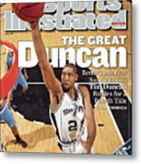 San Antonio Spurs Tim Duncan, 2007 Nba Western Conference Sports Illustrated Cover Metal Print