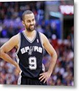San Antonio Spurs V Los Angeles Clippers Metal Print