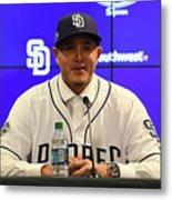 San Diego Padres Introduce Manny Machado Metal Print