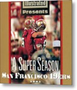 San Francisco 49ers Jerry Rice, Super Bowl Xxix Sports Illustrated Cover Metal Print