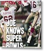 San Francisco 49ers Qb Joe Montana, Super Bowl Xxiv Sports Illustrated Cover Metal Print