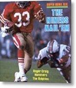 San Francisco 49ers Roger Craig, Super Bowl Xix Sports Illustrated Cover Metal Print